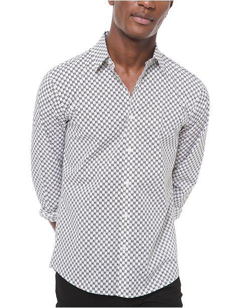 Michael Kors Men's Slim-Fit Stretch Logo Shirt