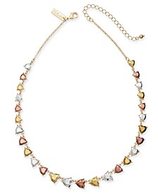 "INC Gold-Tone Stone Heart Collar Necklace, 15-1/2"" + 3"" extender, Created for Macy's"