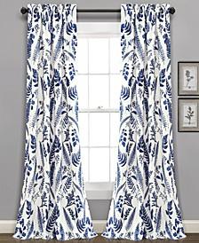 Devonia Botanical Print Curtain Sets