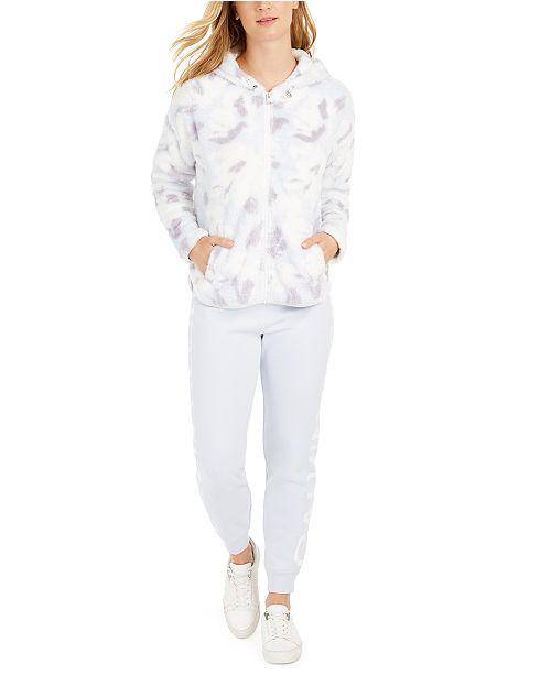 Calvin Klein Floral-Print Hooded Jacket