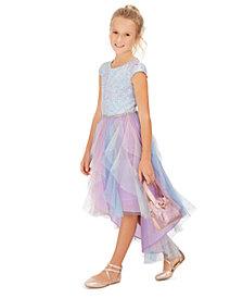 Rare Editions Big Girls Sequined Cascade Unicorn Dress