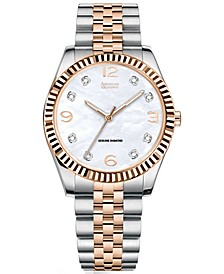 Men's Diamond-Accent Two-Tone Bracelet Watch 40mm