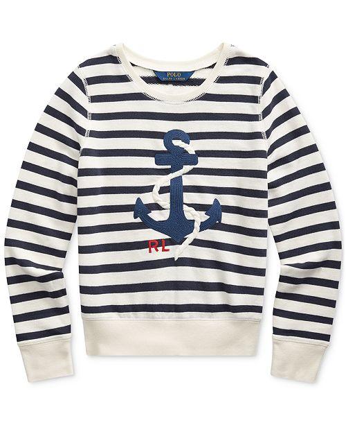Polo Ralph Lauren Big Girls Anchor Terry Sweatshirt