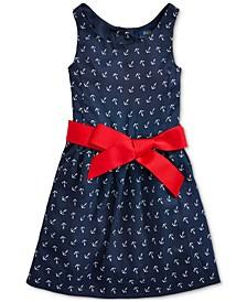 Toddler Girls Anchor-Print Twill Dress