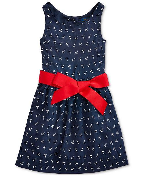 Polo Ralph Lauren Toddler Girls Anchor-Print Twill Dress