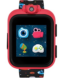 Kids  PlayZoom with Black Sports Print Strap Smart Watch 42x52mm