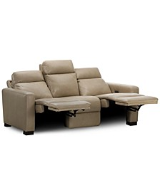 "Hayvon 90"" Leather Dual Power Sofa"