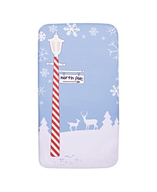 North Pole Flannel Photo Op Crib Sheet