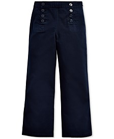 Little Girls Cotton Twill Sailor Pants