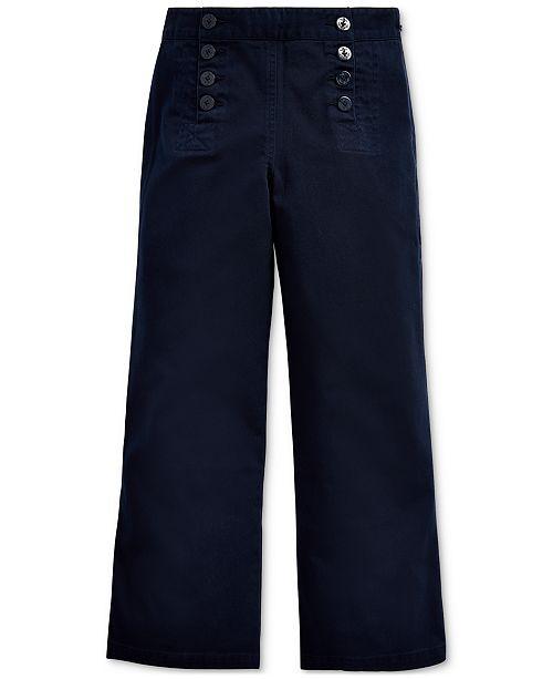 Polo Ralph Lauren Toddler Girls Cotton Twill Sailor Pants