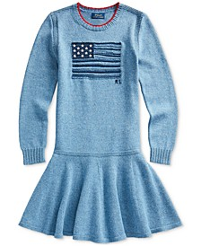 Big Girls Intarsia-Flag Cotton Dress