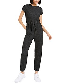 Cozy T-Shirt Drawstring Jumpsuit, Created For Macy's