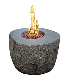 "43"" Boulder Outdoor Fire Pit Table Liquid Propane"