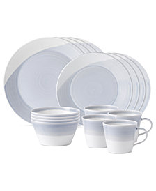 Royal Doulton Dinnerware, 1815 Blue 16-Piece Set, Service for 4