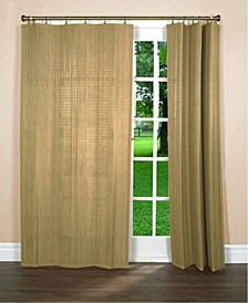 Home Fashions Bamboo Wood Curtain Ring Top Panel