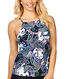 Paisley Paradise Cali Printed Underwire Tankini, Created for Macy's