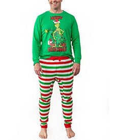 Matching Men's Two Piece Plus Size Pajamas, Online Only