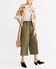 Drawstring Culottes Pants