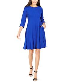 Petite Pleated A-Line Dress