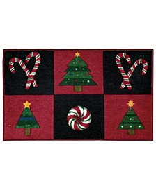"Holiday Grid 18"" x 30"" Plush Accent Rug"