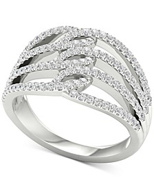 Diamond Multi-Row Openwork Statement Ring (5/8 ct. t.w.) in 10k White Gold