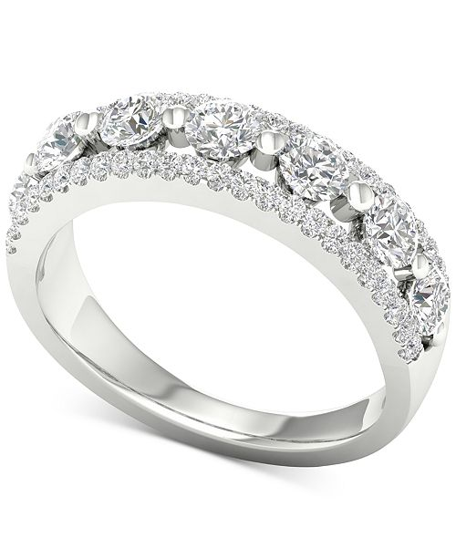 Macy's Diamond Openwork Band (7/8 ct. t.w.) in 14k White Gold