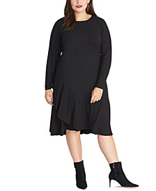 Trendy Plus Size Ruffled Dress