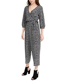 Juniors' Wrap Tie Jumpsuit