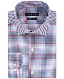 Men's Big & Tall Classic/Regular-Fit Non-Iron THFlex Stretch Check Dress Shirt