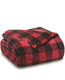 Elite Home Winter Nights Plush Blanket, Twin