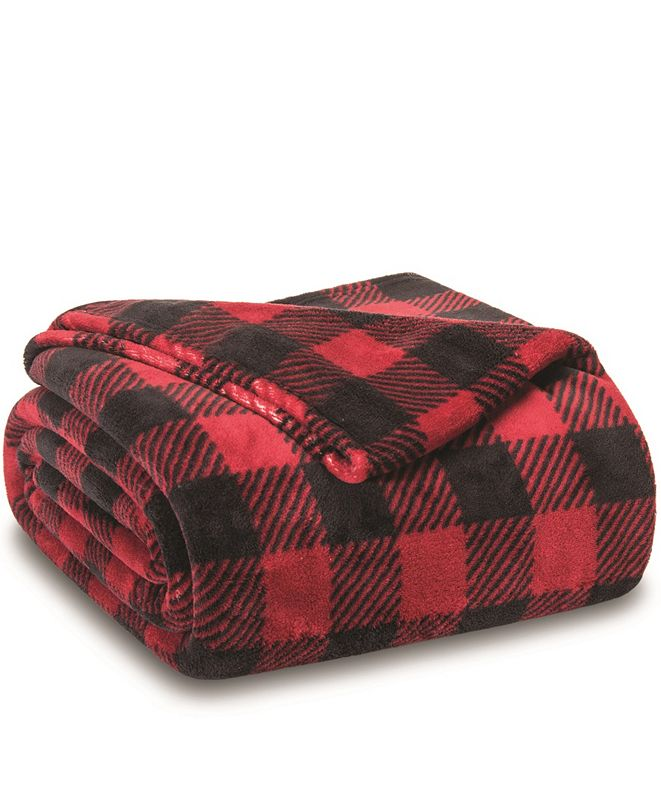 Elite Home Winter Nights Plush Blanket, Twin