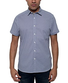 Men's Stretch Diamond Geo-Print Shirt