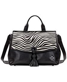 Zebra Haircalf Mollia Leather Satchel