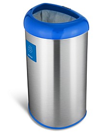13.2 Gallon Open Top Trash Can with Recycle Magnet