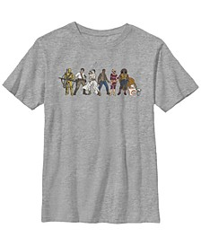 Big Boys Resistance Cartoon Lineup Short Sleeve T-Shirt