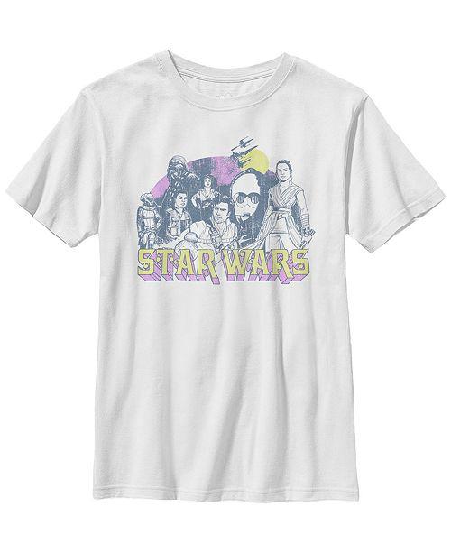 Star Wars Big Boys Episode 9 Sunset Group Sketch Short Sleeve T-Shirt