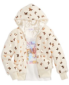 Big Girls 2-Pc. Butterfly Jacket & Beauty Tank Top Set