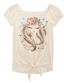 Big Girls Floral Crown T-Shirt