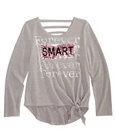 Big Girls Forever Smart & Kind Flip Sequin Top