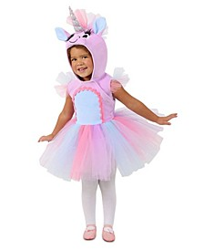 Big Girls Pastel Unicorn Dress
