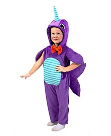 Big Girls and Boys Minky Narwhal Costume