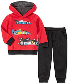 Toddler Boys 2-Pc. Racecars Fleece Hoodie & Sweatpants Set