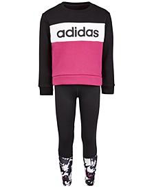 Little Girls Fleece Sweatshirt & Climalite® Leggings