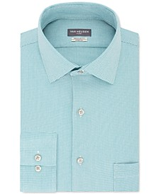 Men's Classic/Regular-Fit Wrinkle-Free Performance Stretch Flex Collar Solid Dress Shirt
