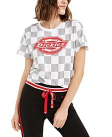 Junior's Checkered Graphic T-Shirt
