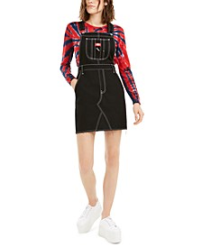 Juniors' Denim Overall Dress