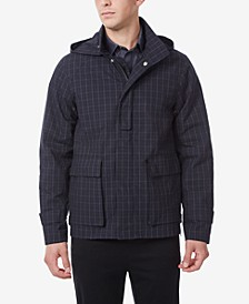 Men's Cotton Car Coat with detachable hood.