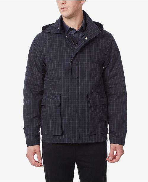 Riverstone Men's Cotton Car Coat with detachable hood.