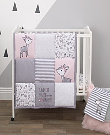 Sweet Deer 3-Piece Crib Bedding Set