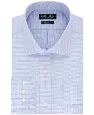 $125 Van Heusen Men/'S Regular-Fit Blue Long-Sleeve Button Dress Shirt 16 32//33 L